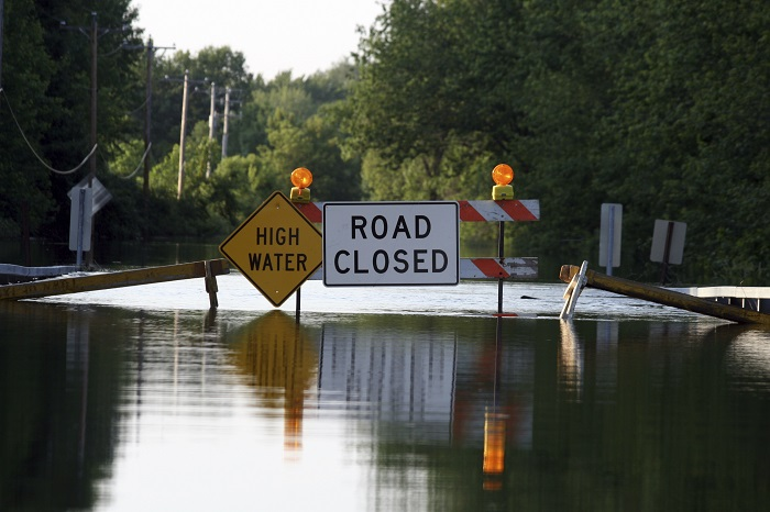 Flooded Road Closed