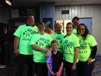 Big Brothers Big Sisters bowling team