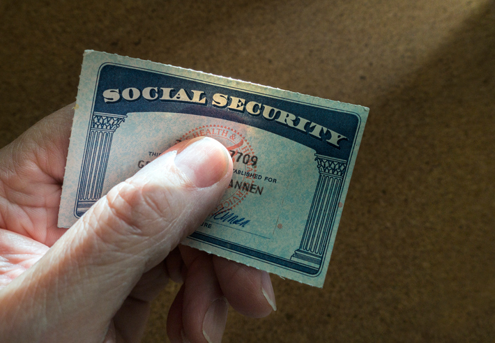 Social Security Card In Hand